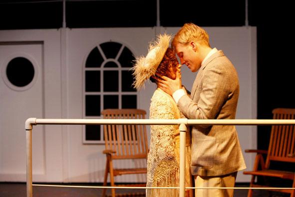 Berthe Mayne (Nathalie Pownall) and Quigg Baxter (Jamie Partridge)