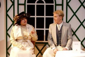 Molly Brown (Rosalind Blessed) & Quigg Baxter (Jamie Partridge)