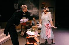 Underling & Mrs Tott Spit Take